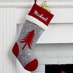 Personalized Christmas Stocking - Wintertime Wishes - Tree - Christmas Clearance Personalized Christmas Gifts, Christmas Gifts For Women, Christmas Time, Xmas, White Christmas, Christmas Stuff, Christmas Party Games, Outdoor Christmas Decorations, Wishes Tree