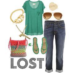 dress like kate austen!  lol! :D