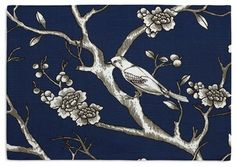 Blue Modern Chinoiserie Custom Placemat Set contemporary-table-linens