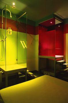 Bathroom at #HotelDarHi  #Nefta  .......Paris based designer #MataliCrasset designed the hotel #DarHI