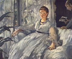The Reading, 1873 by Edouard Manet depicts his wife Suzanne, a distinguished piano player, when she was around 35 years old.
