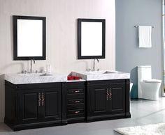 Best Double Traditional Bathroom Vanities Images On Pinterest - 90 inch bathroom vanity