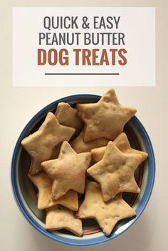 Quick & Easy Peanut Butter Dog Treats