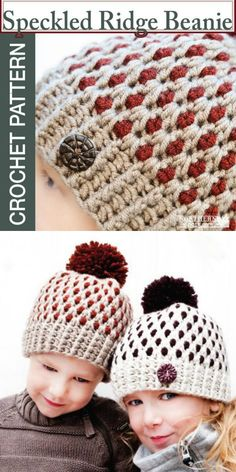 854eb118a57 I love the pops of colour int he speckled ridge beanie crochet pattern!  what a