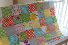 Chenille Baby Quilt  Crib Blanket  by ScarlettsCozyCottage on Etsy