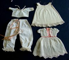 Pretty Antique Victorian Dolls Clothing c.1900 by chalcroft, $16.00