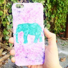 Paisley Elephant iPhone Case