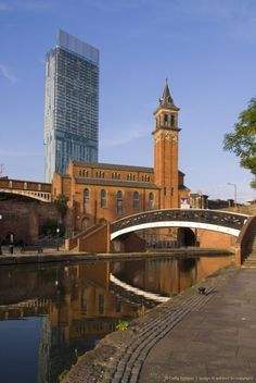 301 Deansgate, St. George's church, Castlefield Canal, Manchester, England