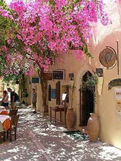 Just to sit there and eat outside and relax is just beautiful! Miss it! Crete, Greece