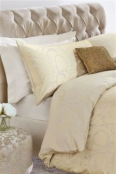 Buy Champagne Scroll Jacquard Bed Set from the Next UK online shop