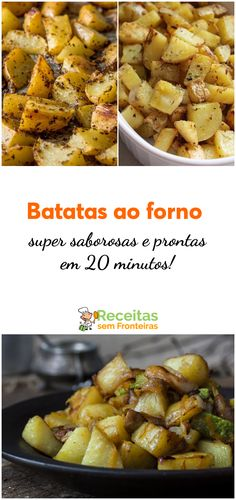Como preparar batatas ao forno super saborosas e prontas em 20 minutos!