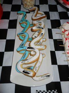Hot Wheels Party, 2nd Birthday Parties, Track, Cookies, Facebook, Crack Crackers, Runway, Biscuits, Truck