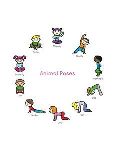 Kids Yoga Book: My First Yoga Animal Poses. #kidsyoga