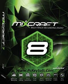 Acoustica Mixcraft Pro Studio 8 Crack Full Version. This is a music studio tool. Got some powerful instruments like piano, organ emulators, bass and drums.