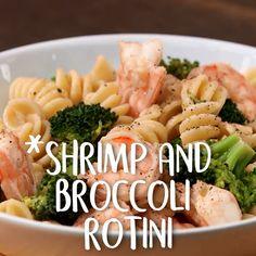 Yummy Recipes, Shrimp Recipes, Easy Healthy Recipes, Dinner Recipes, Easy Meals, Cooking Recipes, Yummy Food, Rotini Pasta Recipes, Clean Eating Snacks
