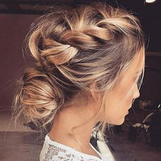 Hairstyles for wedding guests frisuren haare hair hair long hair short Medium Hair Styles, Short Hair Styles, Updo Styles, Up Dos For Medium Hair, Braids For Medium Length Hair, Hair Updos For Medium Hair, Updo For Long Hair, Braids For Thin Hair, Long Curly