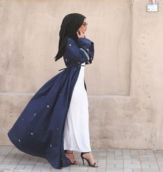 Beautiful flowy abaya. Looks lovely ♡ #abaya #hijab