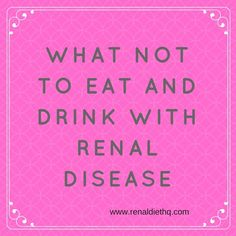 Food and drink restrictions are not fun to talk about, but they are an important part of living as healthily as possible when you have chronic health Kidney Detox, Kidney Health, Health Diet, Kidney Cleanse, Health Care, Kidney Recipes, Kidney Foods, Diet Recipes, Diet Tips