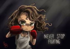 Never Stop Fighting by Chibi-Joey on DeviantArt – Animation ideas Fighting Quotes, Stop Fighting, Power Tattoo, Creation Art, Cute Cartoon Wallpapers, Girls Be Like, Girl Power, Cute Art, Martial Arts