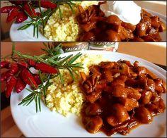 Gombapörkölt főtt kölessel - Hagymás alap Chana Masala, Ethnic Recipes, Food, Attila, Essen, Meals, Yemek, Eten