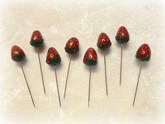 Set of 8 sewing pins Push pins Sewing Pin by ImaginaryHandicraft
