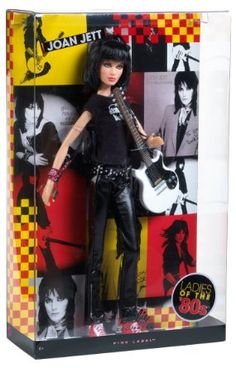 Amazon.com: Barbie Collector Joan Jett Ladies of the 80s Doll: Toys & Games