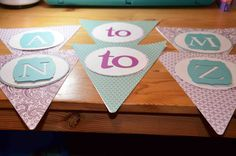 Wedding Day banners available at AJ's Craft Creations. https://www.facebook.com/ajs.craft.creations