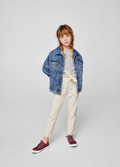 Discover the latest trends in Mango fashion, footwear and accessories. Shop the best outfits for this season at our online store. Preteen Fashion, Kids Fashion, Cute Outfits For Kids, Cute Kids, Trousers For Girls, Kid United, Kids C, Mango Fashion, Manga