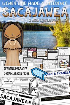 Use this Sacajawea Mini Biography Unit to help you study and organize your learning about the incredible woman who helped guide Lewis and Clark on their journey. Included in this mini-unit you will find short reading passages, organizers, interactive note