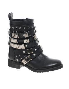 ASOS ABERDEEN Leather Biker Boots