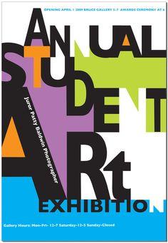 Student Art Exhibition Poster by Michael Reuscher, via Behance