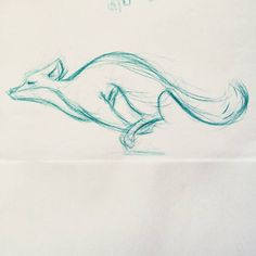 """I really love drawing running foxes _ #fox #sketch #doodle #drawing #sketchbook #sketching #animation #animal #wild #art #artist #instaart #pencil #animal…"""