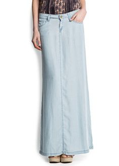 MANGO - Tencel long skirt