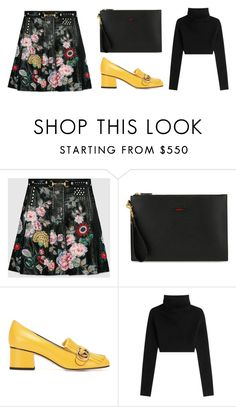 """""""Untitled #4010"""" by michelanna ❤ liked on Polyvore featuring Gucci and Valentino"""