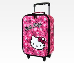Hello Kitty Mini Rolling Luggage: Squiggle