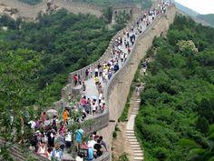 Turisti sulla muraglia cinese..  #cina