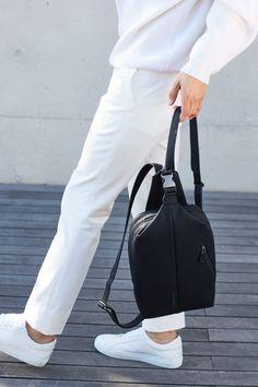 박보검 with Mandarina Duck Leather Backpack, Backpacks, Bags, Fashion, Handbags, Moda, Leather Backpacks, Dime Bags, Backpack