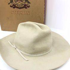 55115dc5d8a68 Stetson Vintage Hat Beaver Original Box Cowboy Western Mens 58 7 1 4