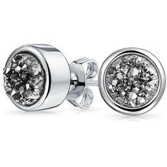 Bling Jewelry Grey Geode Studs ($15) ❤ liked on Polyvore featuring jewelry, earrings, grey, stud-earrings, geode earrings, druzy earrings, druzy stud earrings, christmas earrings and drusy earrings