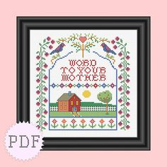 INSTANT DOWNLOAD Cross Stitch Sampler by DisorderlyStitches- @Kelly Teske Goldsworthy Erickson here is one for us!