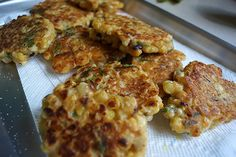 7.29.14 Roasted Corn Fritters with Avocado Cilantro Sauce — Wisconsin from…