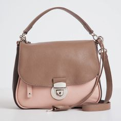 Audrey Bag Prince in Antique Rose & Cocoa | Roots