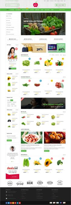 Lotus is a clean and elegant design responsive 6in1 #HTML Bootstrap #template for multipurpose #food shop eCommerce websites download now➩ https://themeforest.net/item/lotus-responsive-ecommerce-template/19191013?ref=Datasata