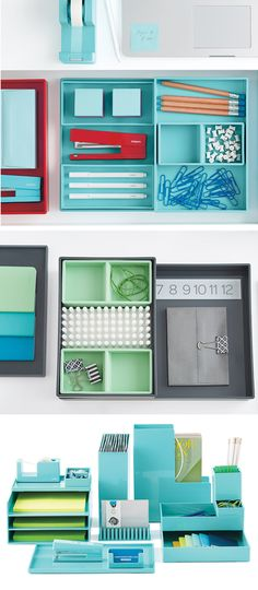 Pop-in and let your desktop accessories stay awhile with our colorfully modular Poppin Desktop Collections!