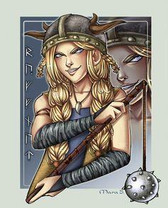 Viking Hall of Fame - Ruffnut by Acaciathorn.deviantart.com