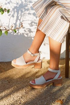 5f57373f66de Piper Platform - White Platform Sandals - White Heeled Sandals - Heeled  Sandals - Summer Heels
