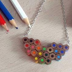 artist colour palette pencil necklace by ellie ellie   notonthehighstreet.com