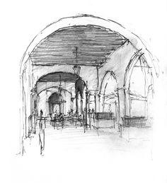 Daniel Mowery » Vicenza Drawing: Loggia