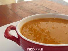 מרק עדשים ובטטה פרווה / צילום : ניקי ב