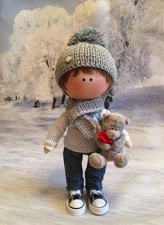 Купить Кукла ручной работы - интерьерная кукла, ручная работа, текстильная кукла